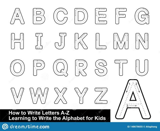 ALPHABET TRACING LETTERS STEP by STEP LETTER TRACING Write the