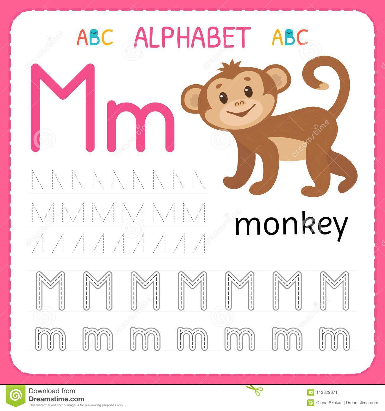 A Through M Worksheet Preschool