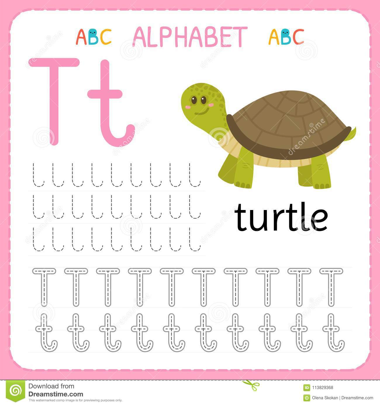 Letter T Worksheets For Preschoolers Letter Of