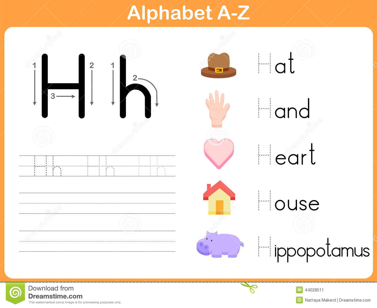 Alphabet Tracing Worksheet Stock Vector Illustration Of Handwriting