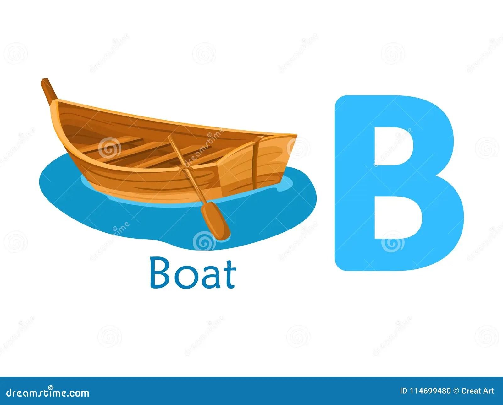 Alphabet Word B B For Boat Stock Vector Illustration Of
