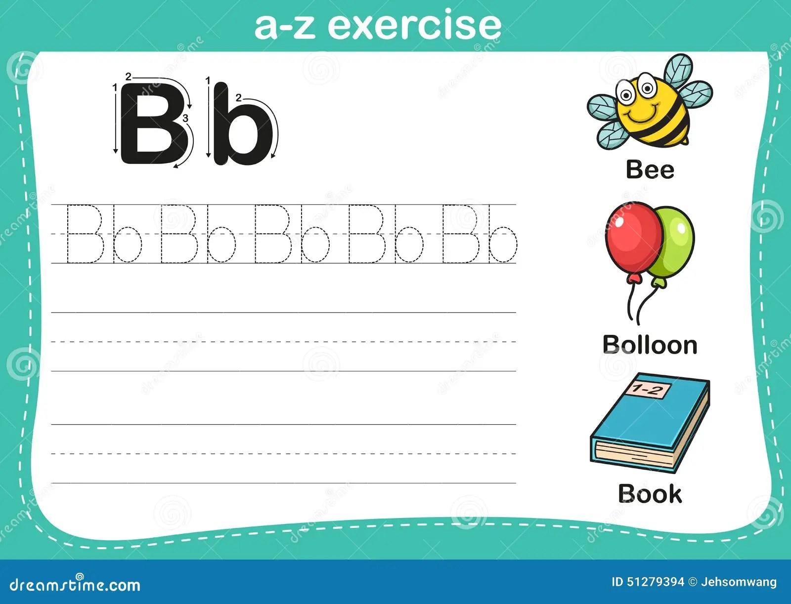 Alphabet A Z Exercise With Cartoon Vocabulary Illustration Stock Vector