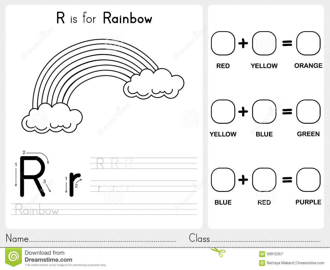 Alphabet Worksheet For Junior Kg