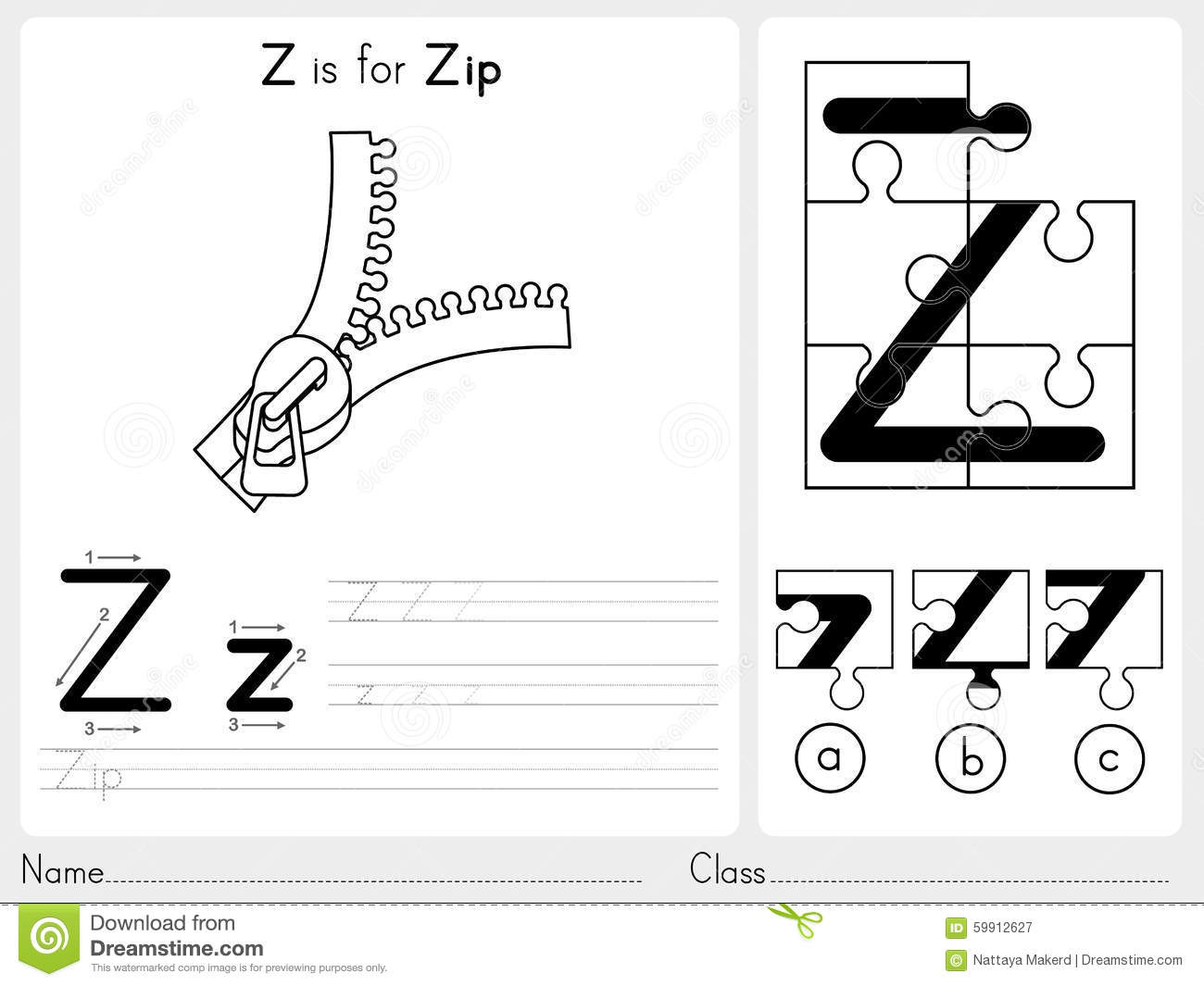 Phonics Worksheet X Y Z