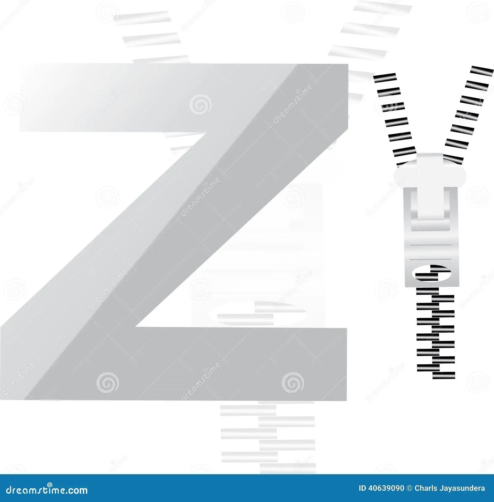Alphabet Z For Zip Stock Illustration