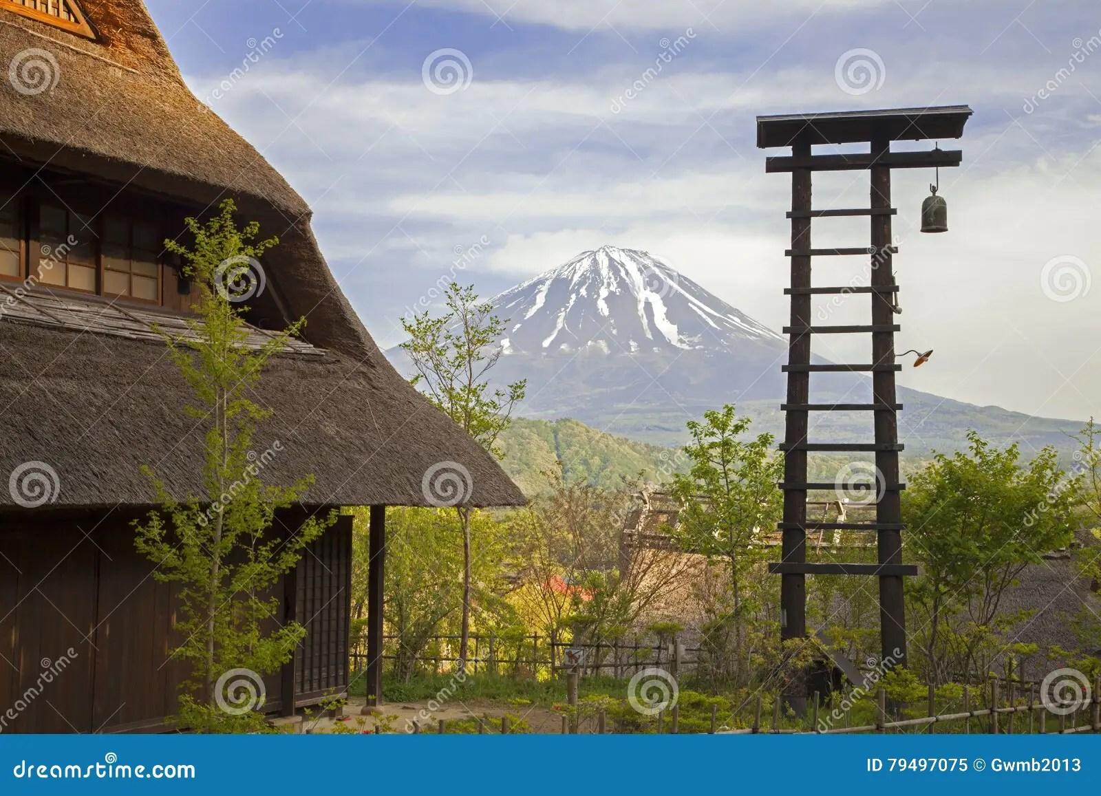 Alte Traditionelle Japanische Häuser Stockbild - Bild von fuji
