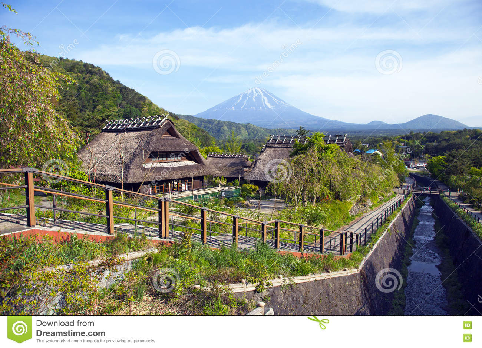 Alte Traditionelle Japanische Häuser Stockbild - Bild von tokyo