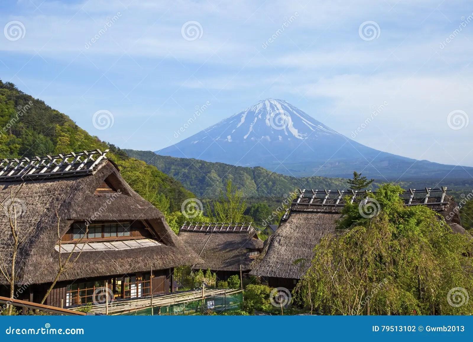 Alte Traditionelle Japanische Häuser Stockfoto - Bild von berge