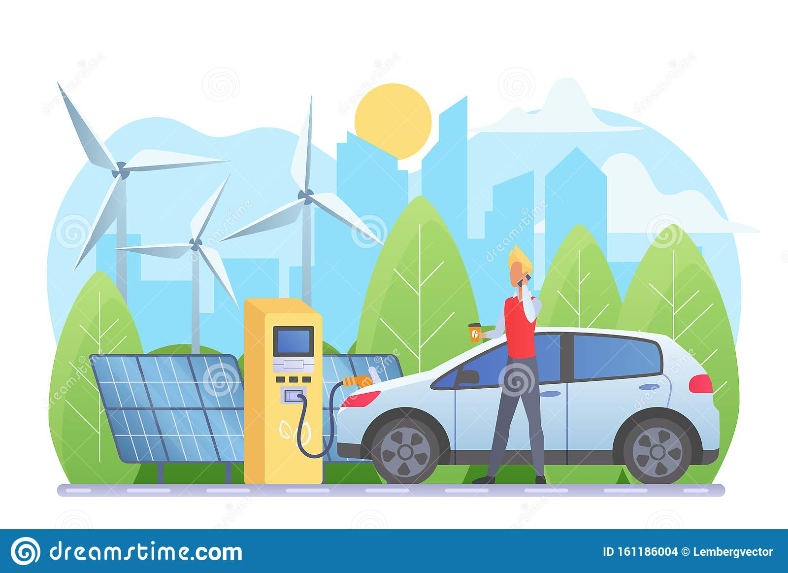 Alternative Energy Sources Vector Illustration