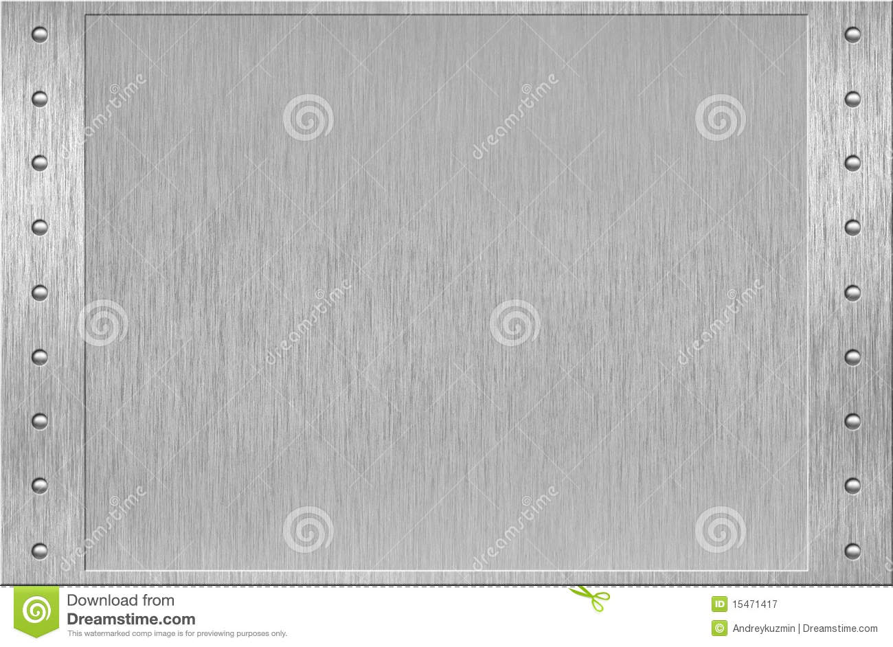 Aluminum Or Metal Frame With Rivets Royalty Free Stock