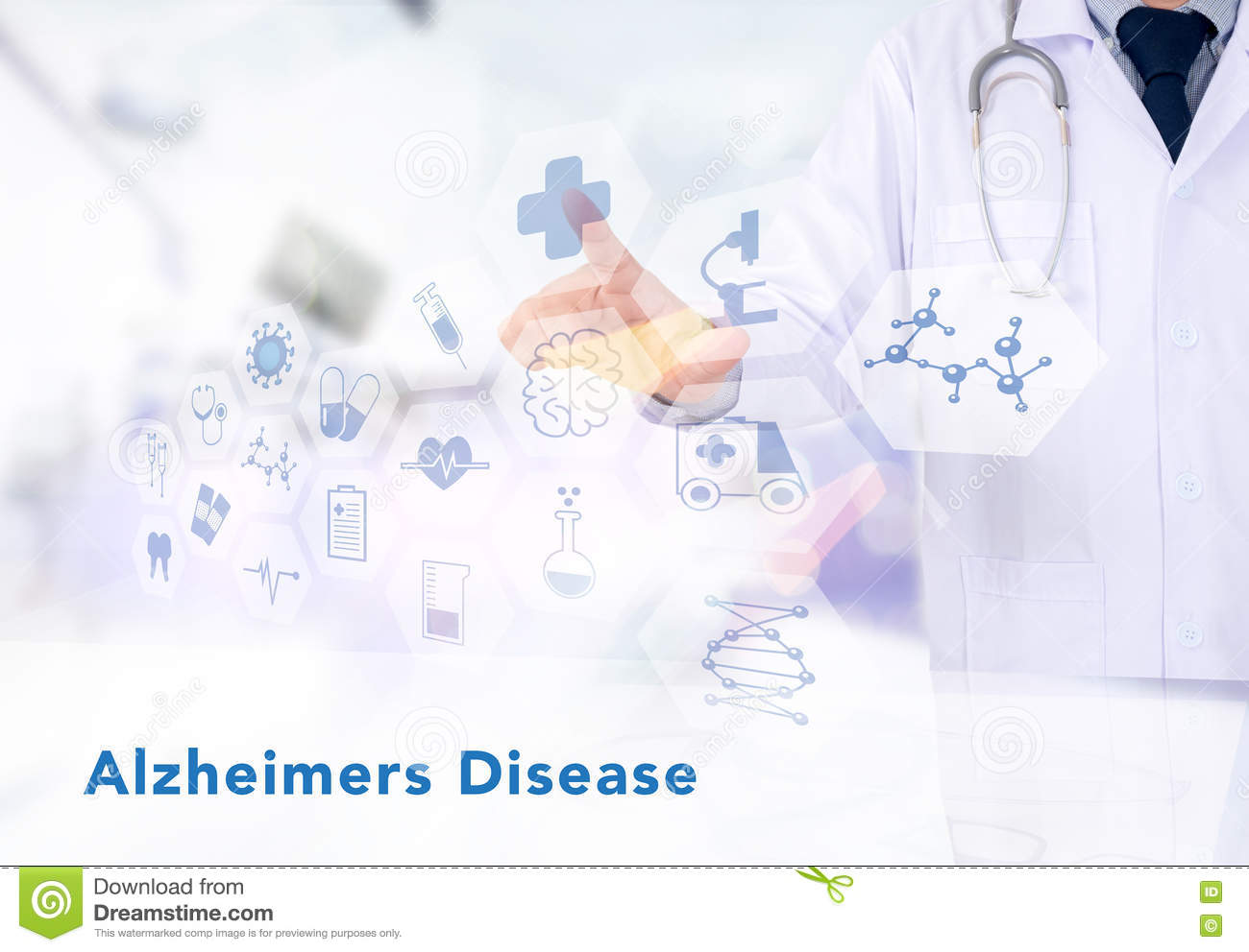 Alzheimers Disease Concept Royalty Free Stock Photo