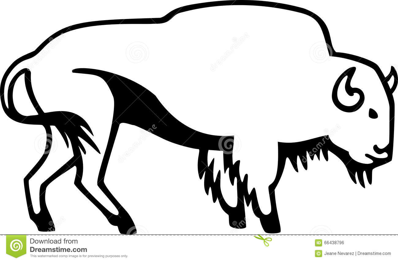 American Bison Stock Vector Illustration Of Artwork