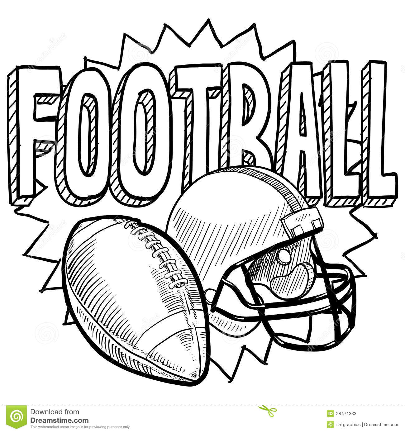 American Football Sketch Stock Vector Image Of Clipart
