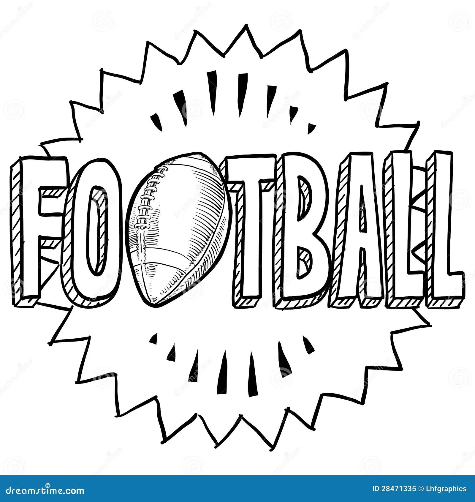 American Football Sketch Royalty Free Stock Photo