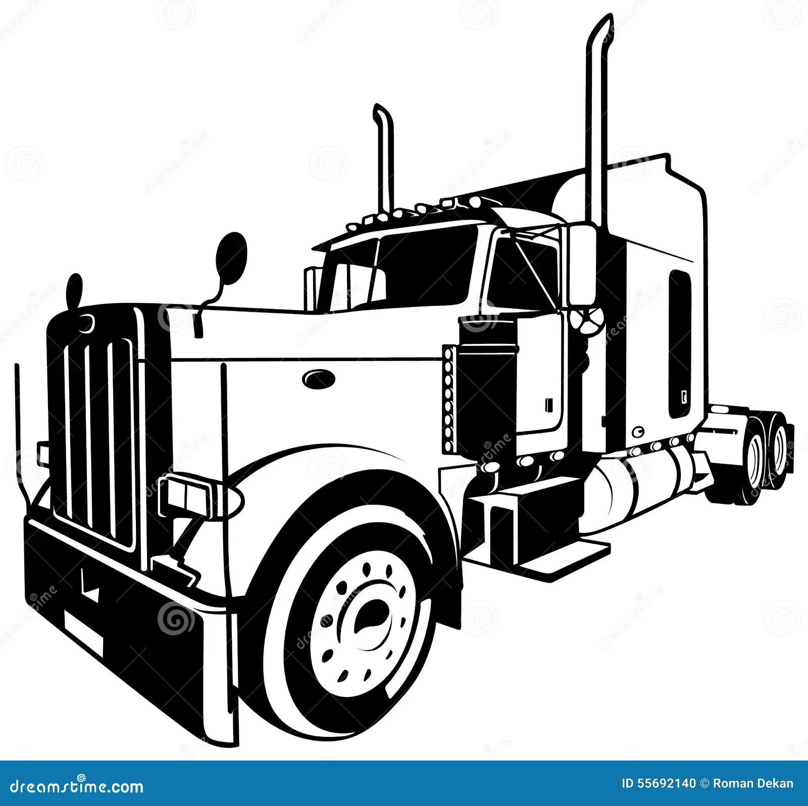 American Truck Stock Vector Illustration Of Transport
