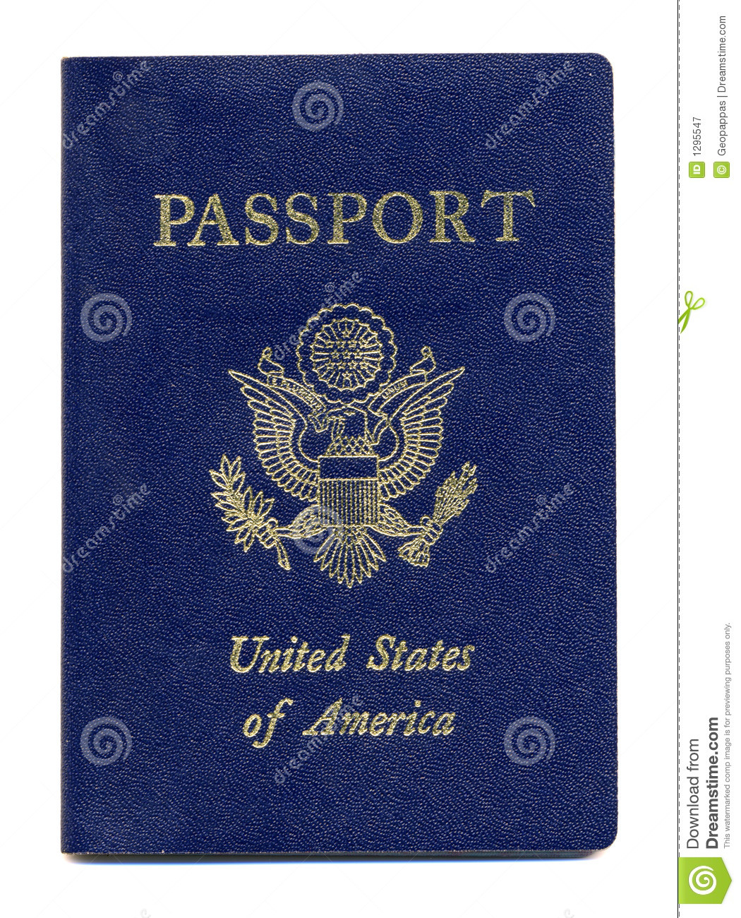 American Or United States Passport Stock Image