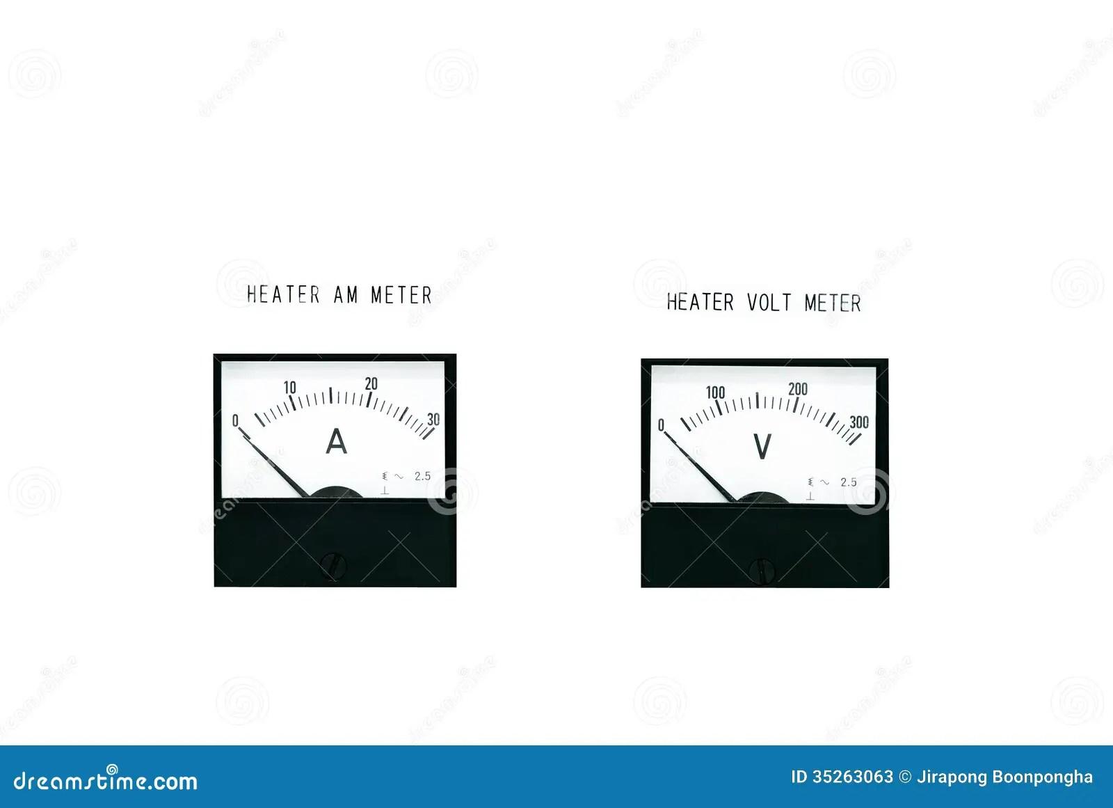 Amp Meter And Volt Meter Stock Photos