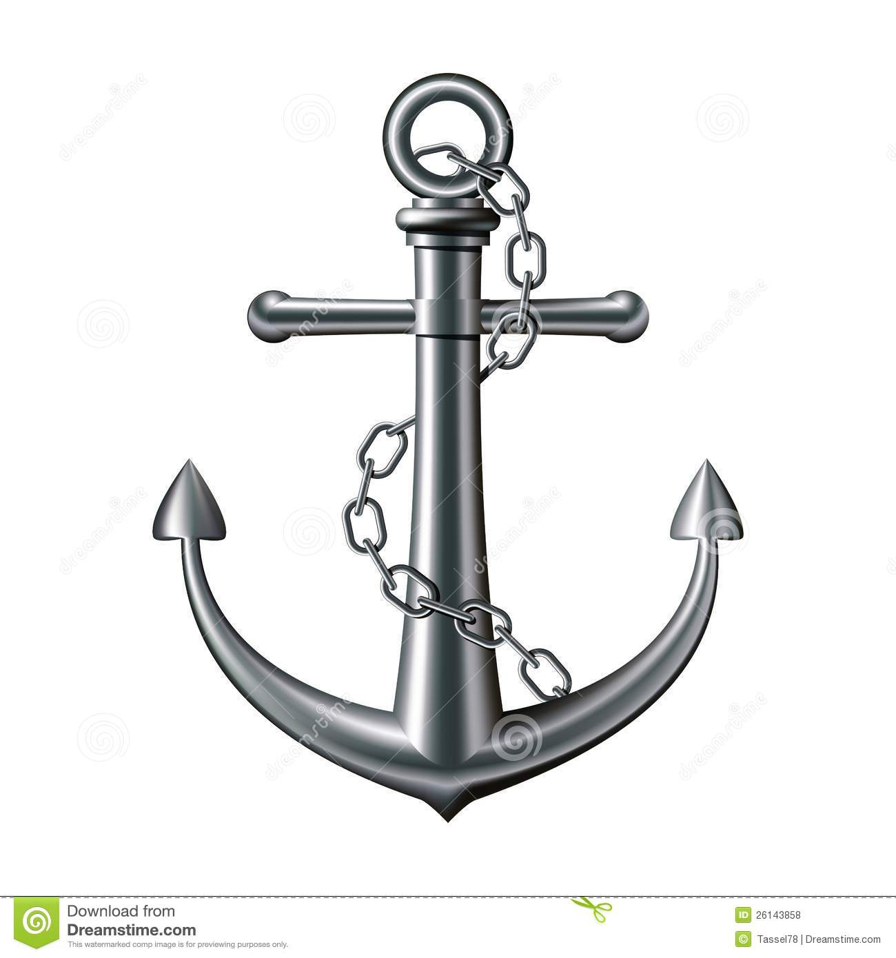 Anchor On A White Background Royalty Free Stock Photo