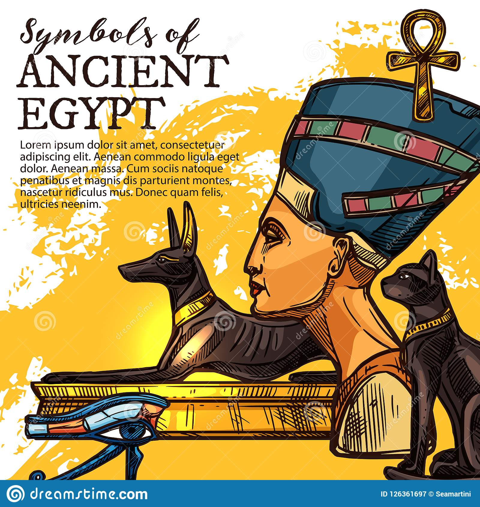 Ancient Egypt Culture And Religion Stock Vector