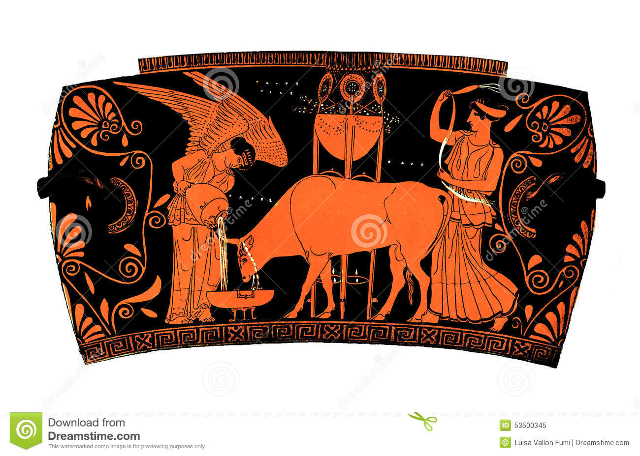 Ancient Greek Vase Democracy Stock Illustration