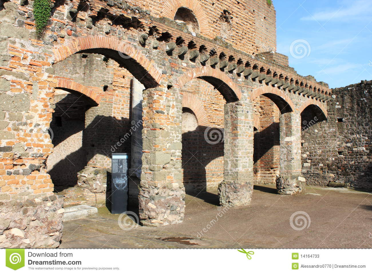 Ancient Roman House Stock Image Image Of Courtyard