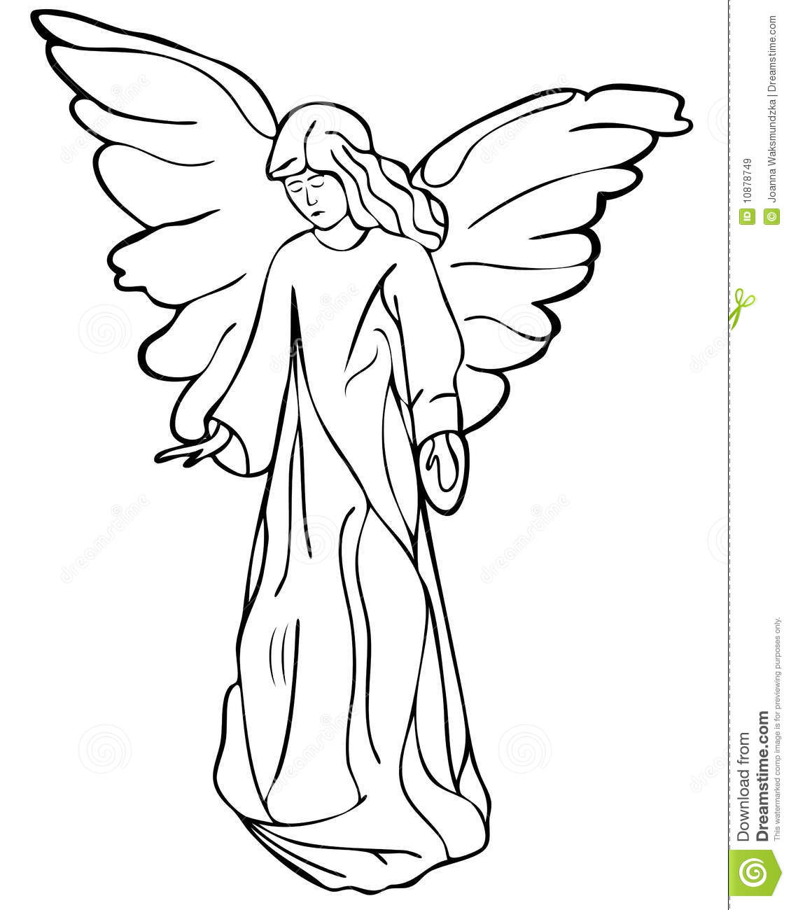 Angel Drawing Stock Vector Illustration Of Expression