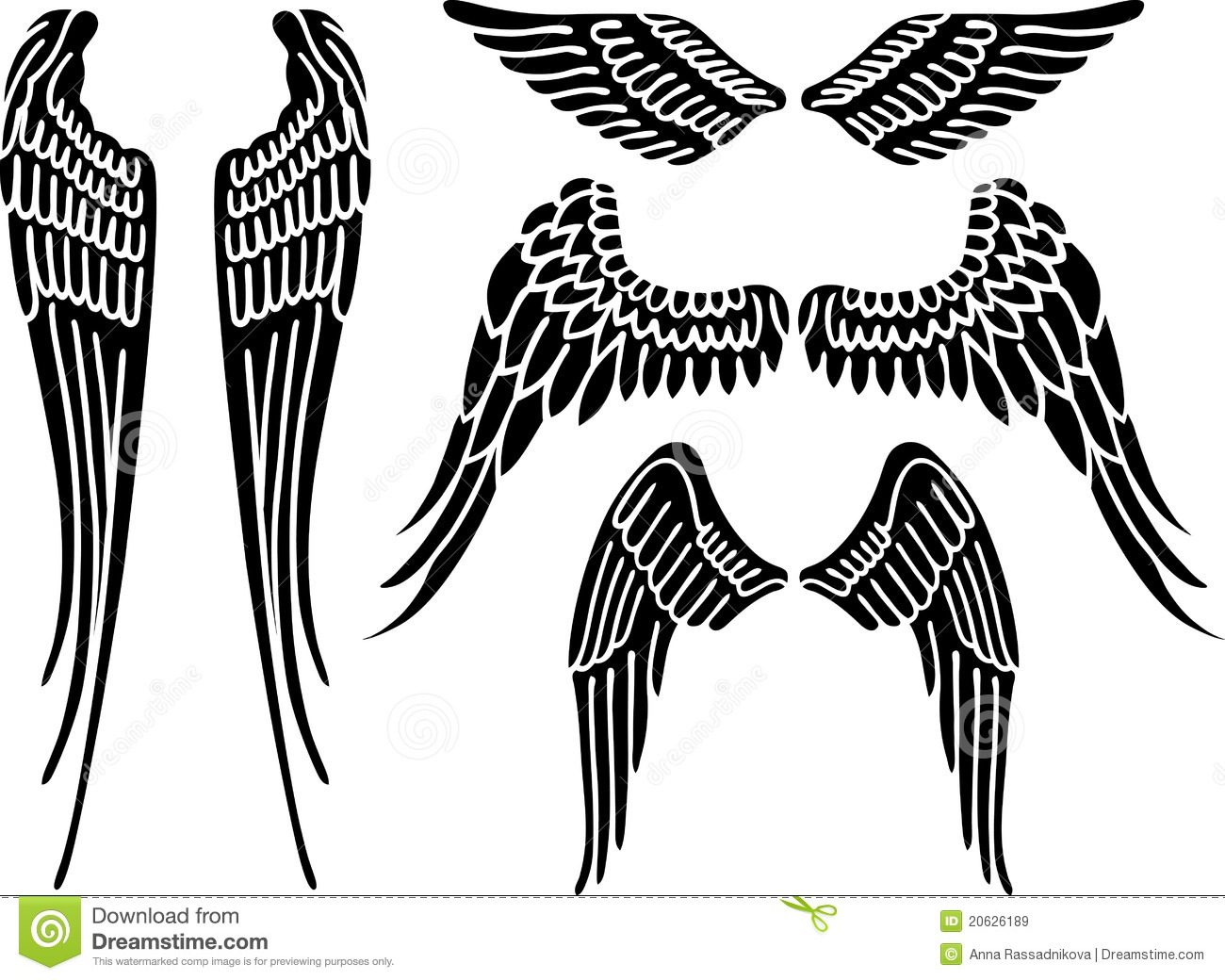 Angel Wings Stock Vector Illustration Of Abstract Black