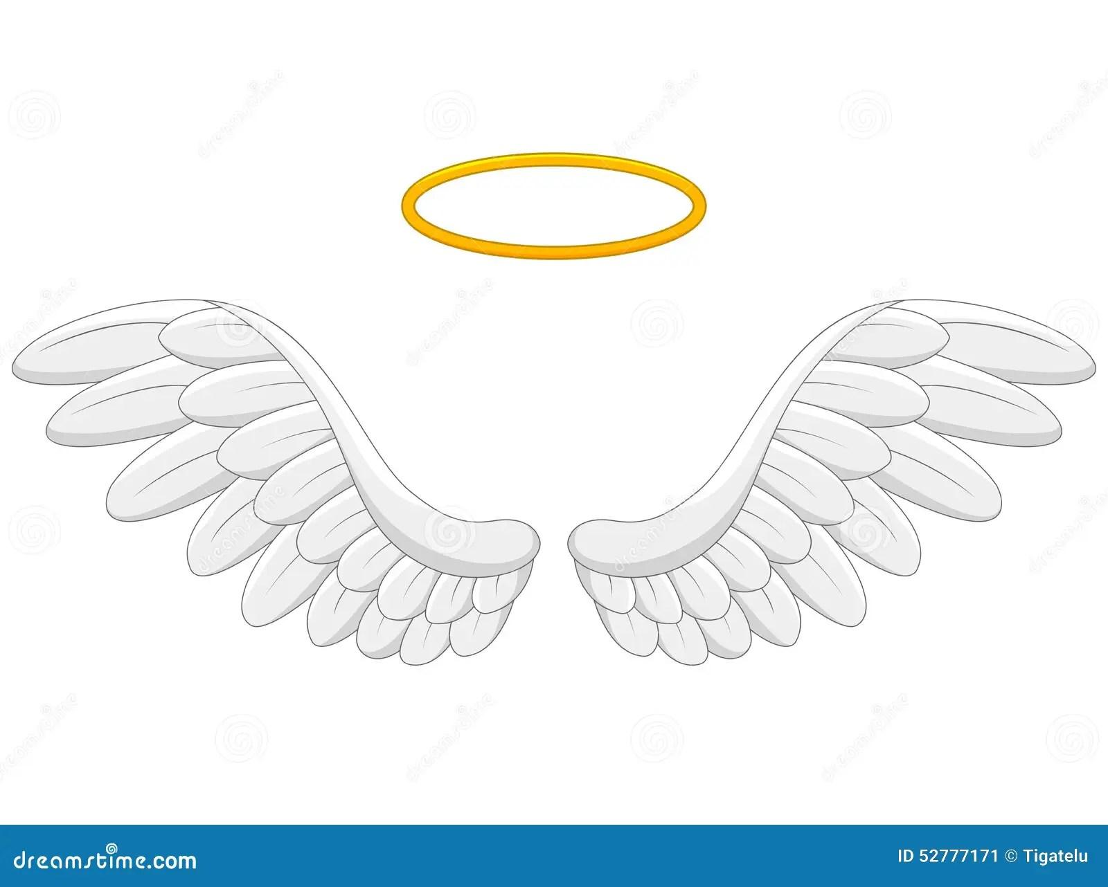 Angel Wings Cartoon Stock Vector Illustration Of Doodle