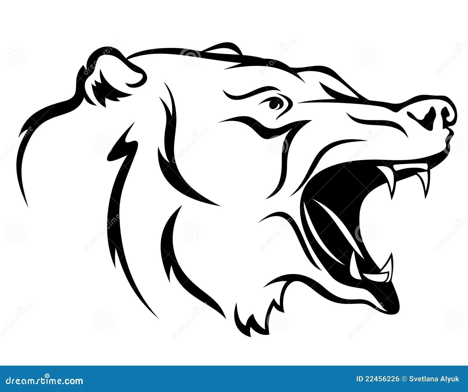 Ferocious Bear Athlete Vector Illustration