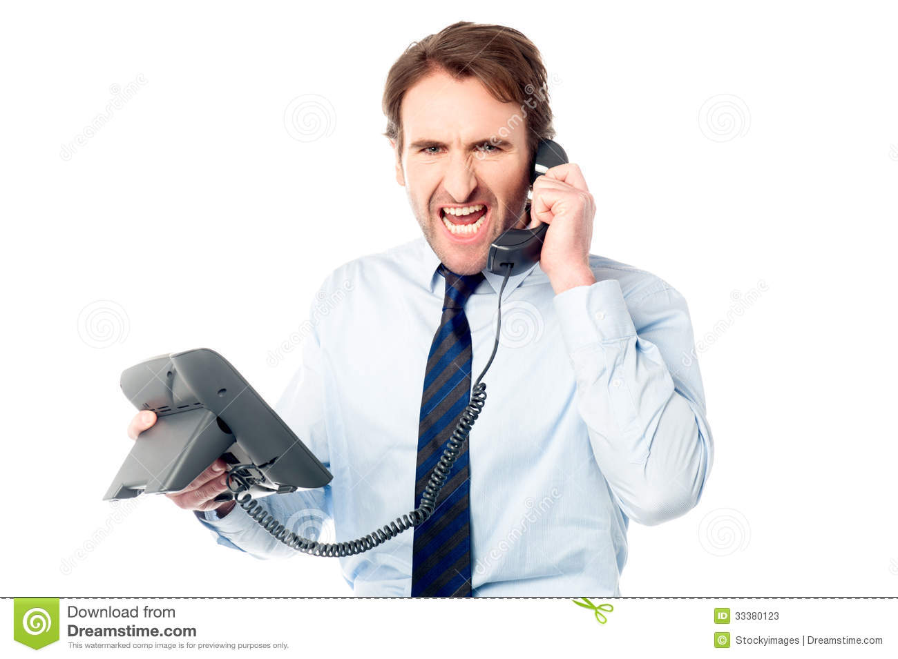 Angry Business Professional Yelling Stock Photos Image