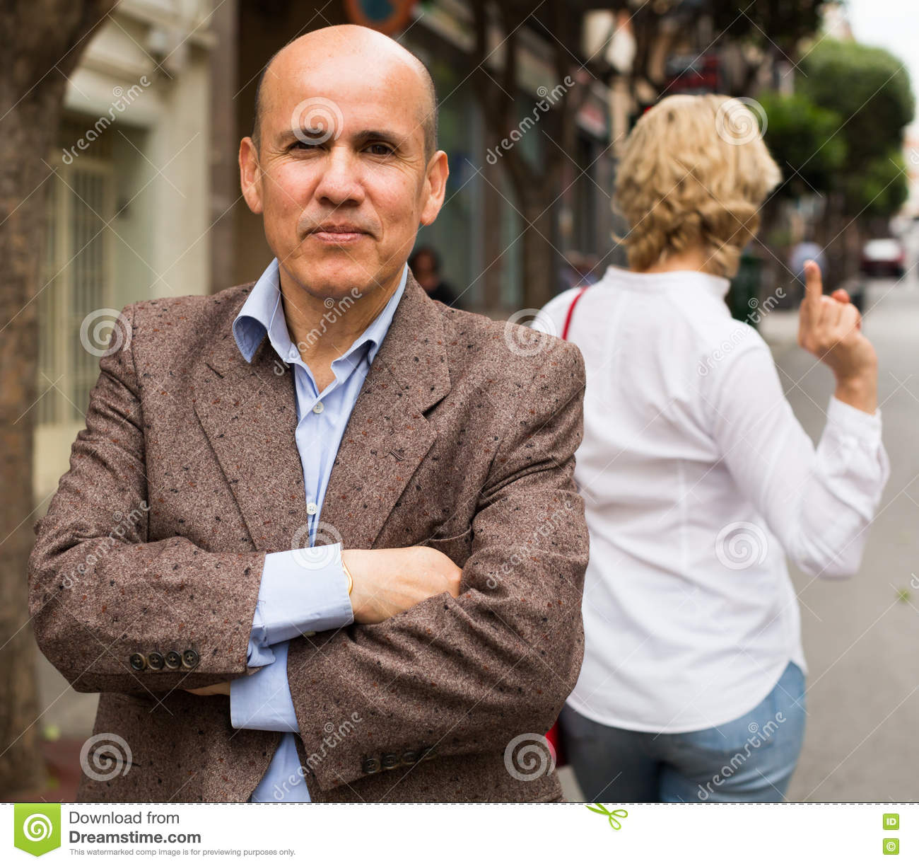 Angry Man Outdoors Stock Photo Image Of Closeup City