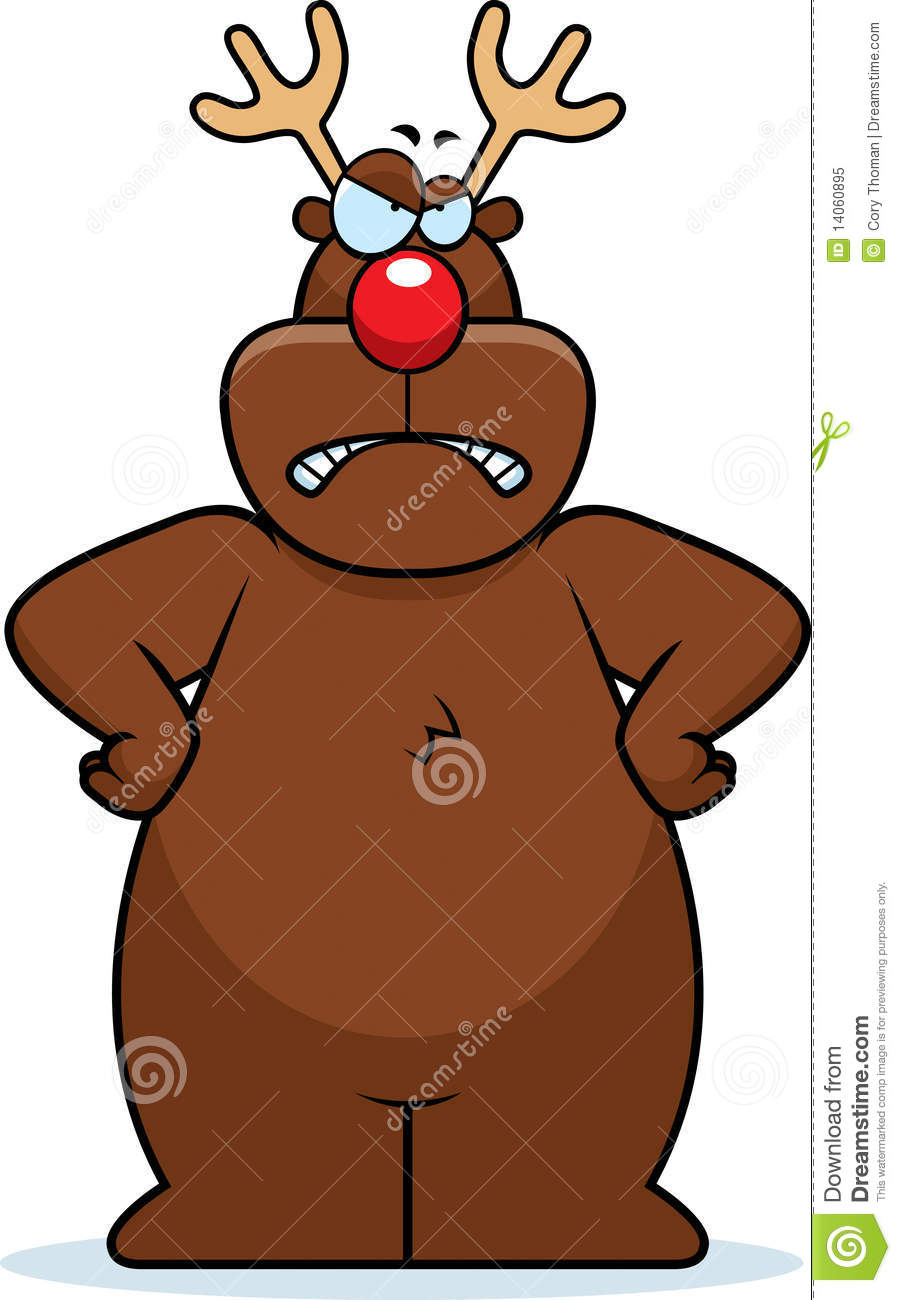 Angry Reindeer Royalty Free Stock Photo Image 14060895