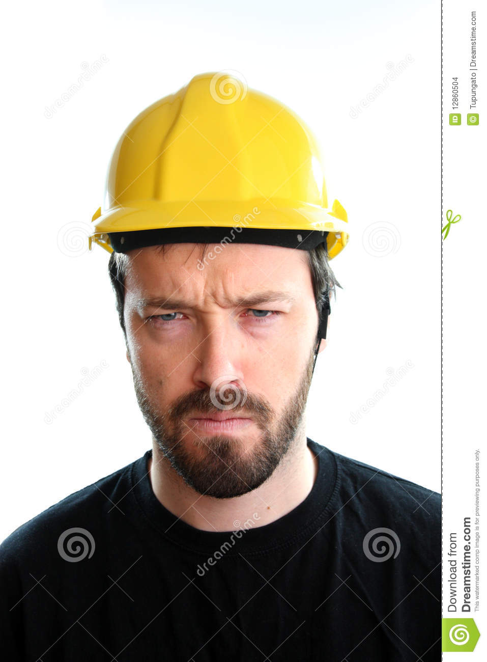 Angry Worker Stock Photo Image Of Construction Eyes