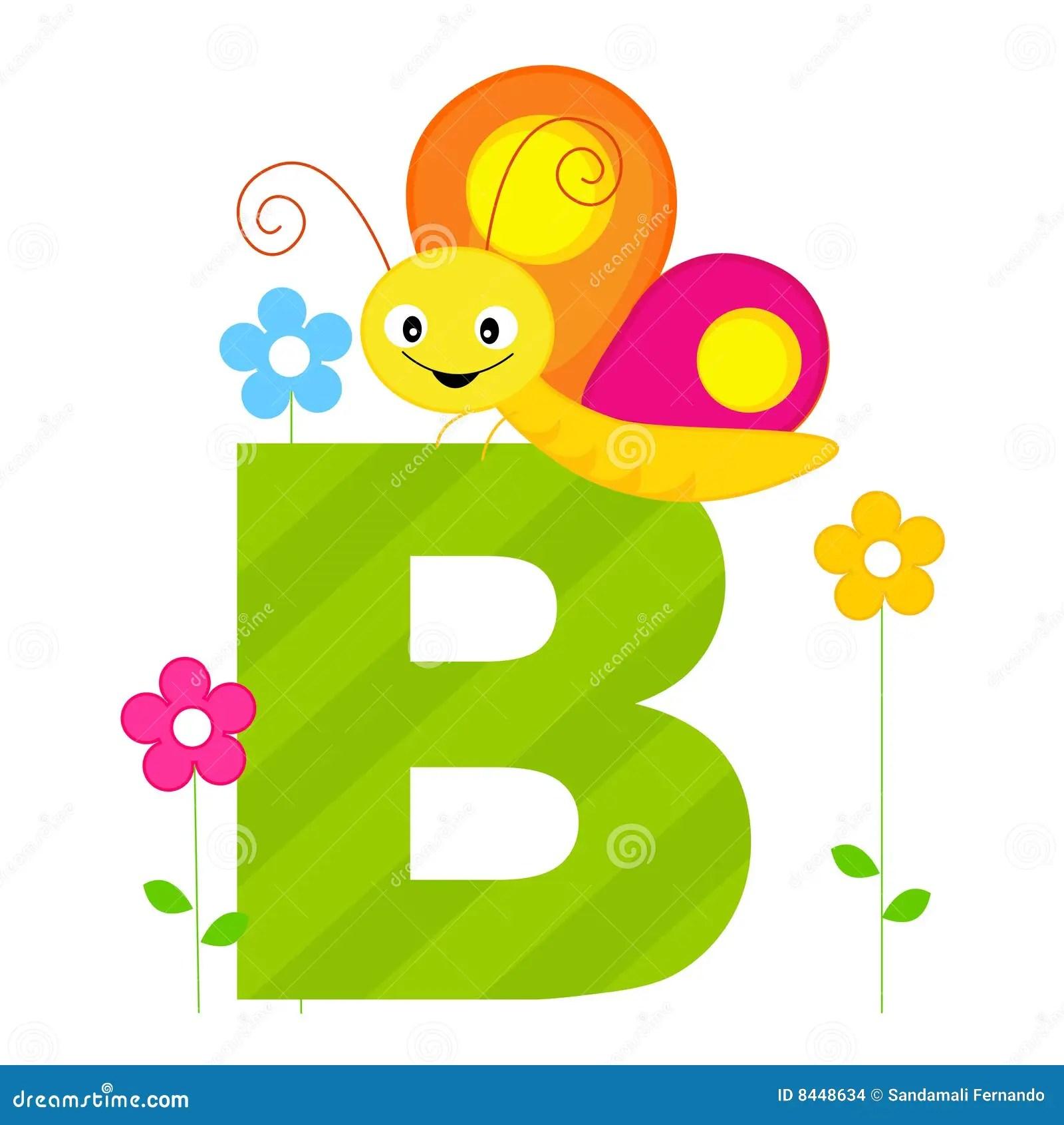 Animal Alphabet B Stock Vector Illustration Of Butterfly