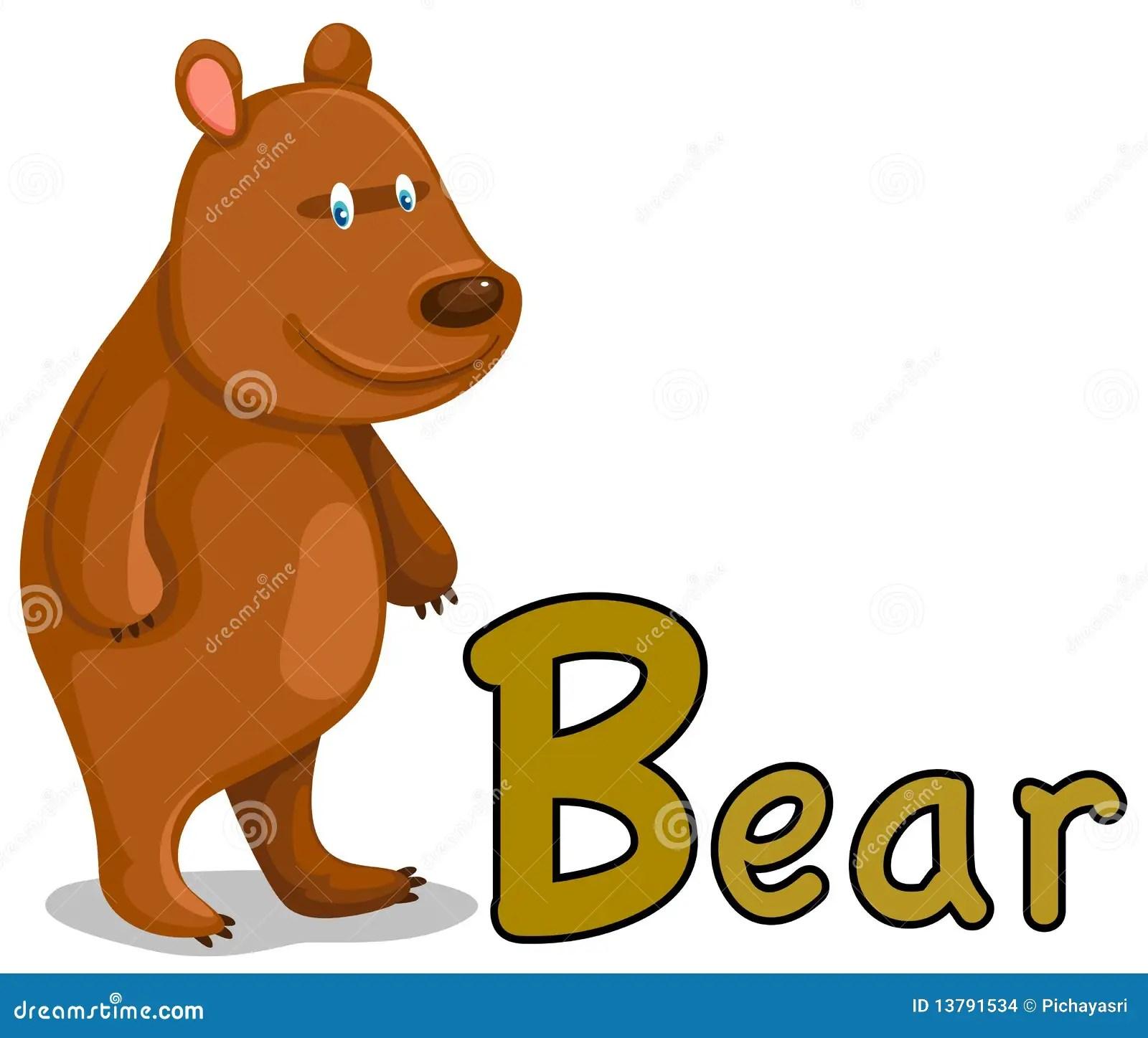 Animal Alphabet B For Bear Stock Vector Illustration Of