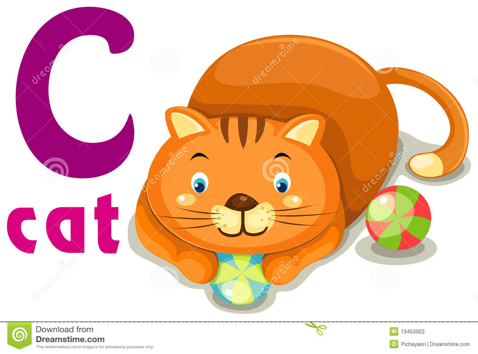 Animal Alphabet C Stock Vector Illustration Of Background