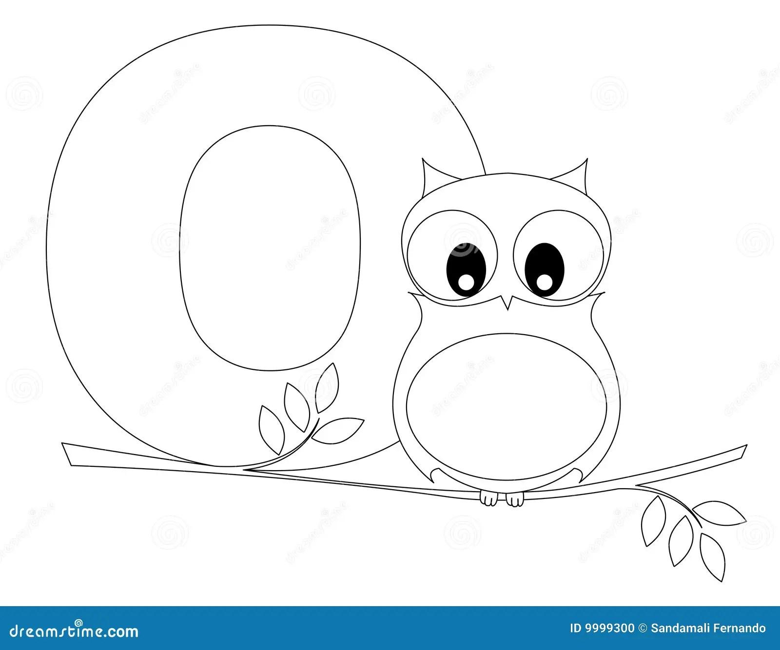 Animal Alphabet O Coloring Page Stock Photo