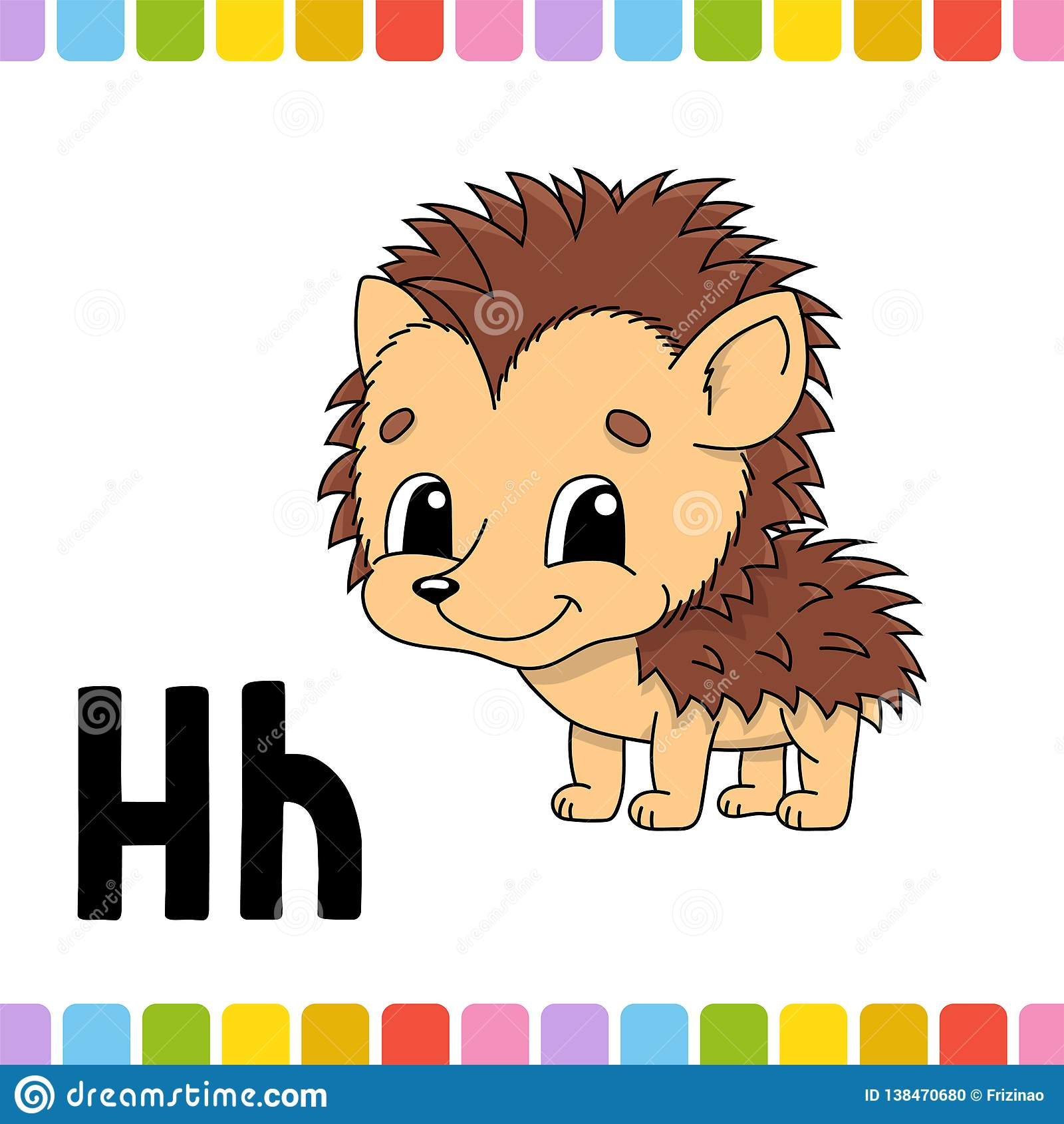 Animal Alphabet Zoo Abc Cartoon Cute Animals Isolated On