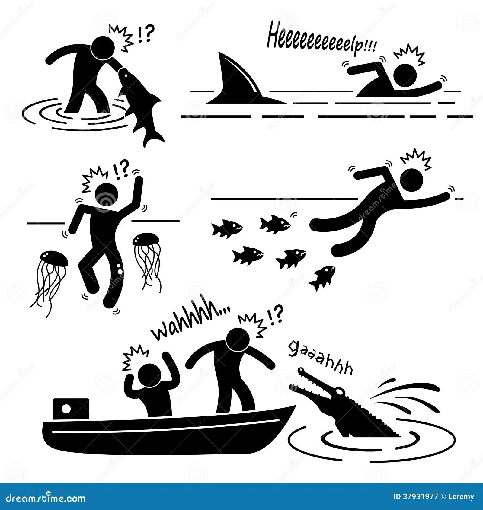 Animal Maritimo Fluvial Dos Peixes Que Ataca O Pictograma
