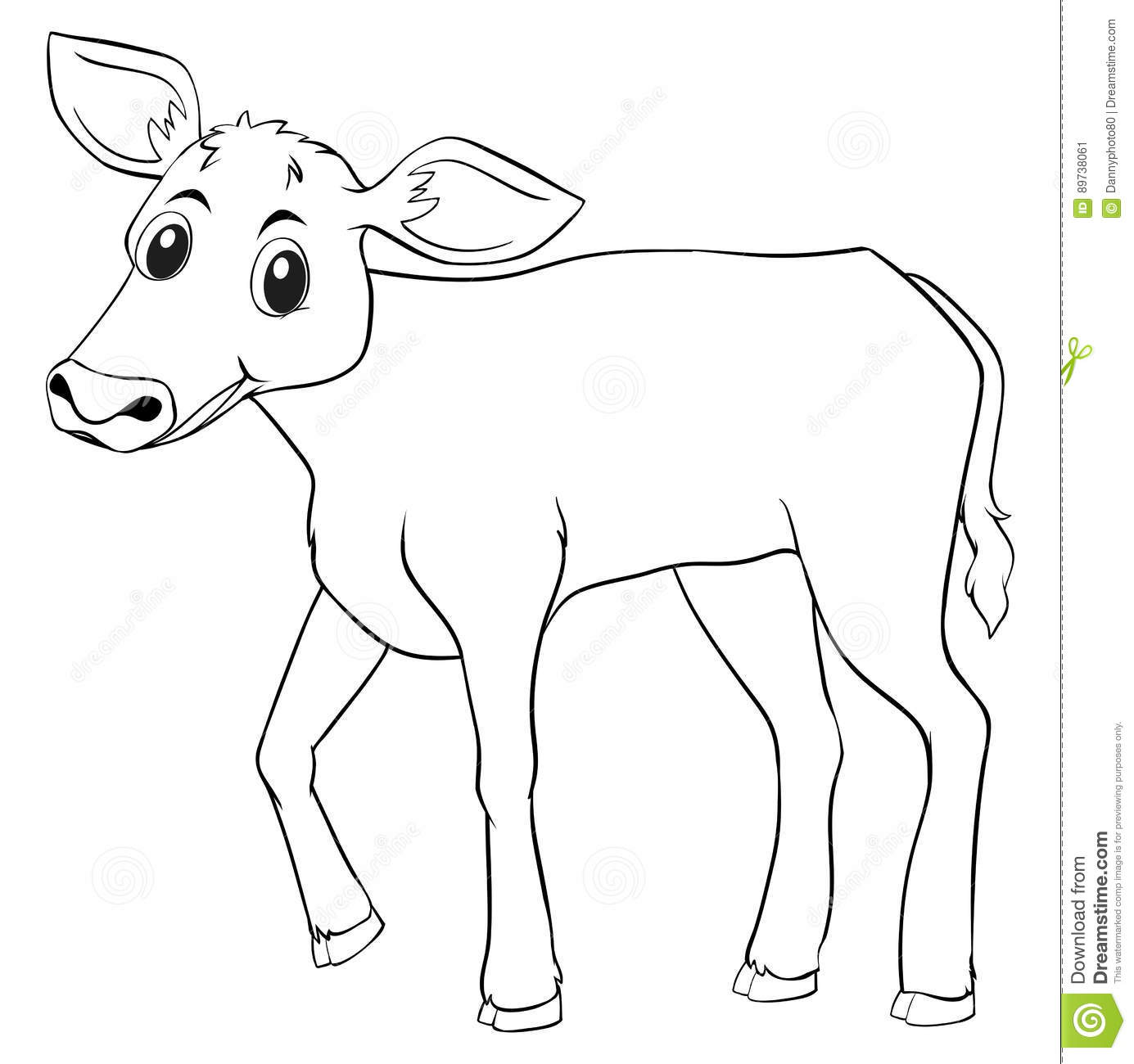 Animal Outline For Cow Stock Vector Illustration Of