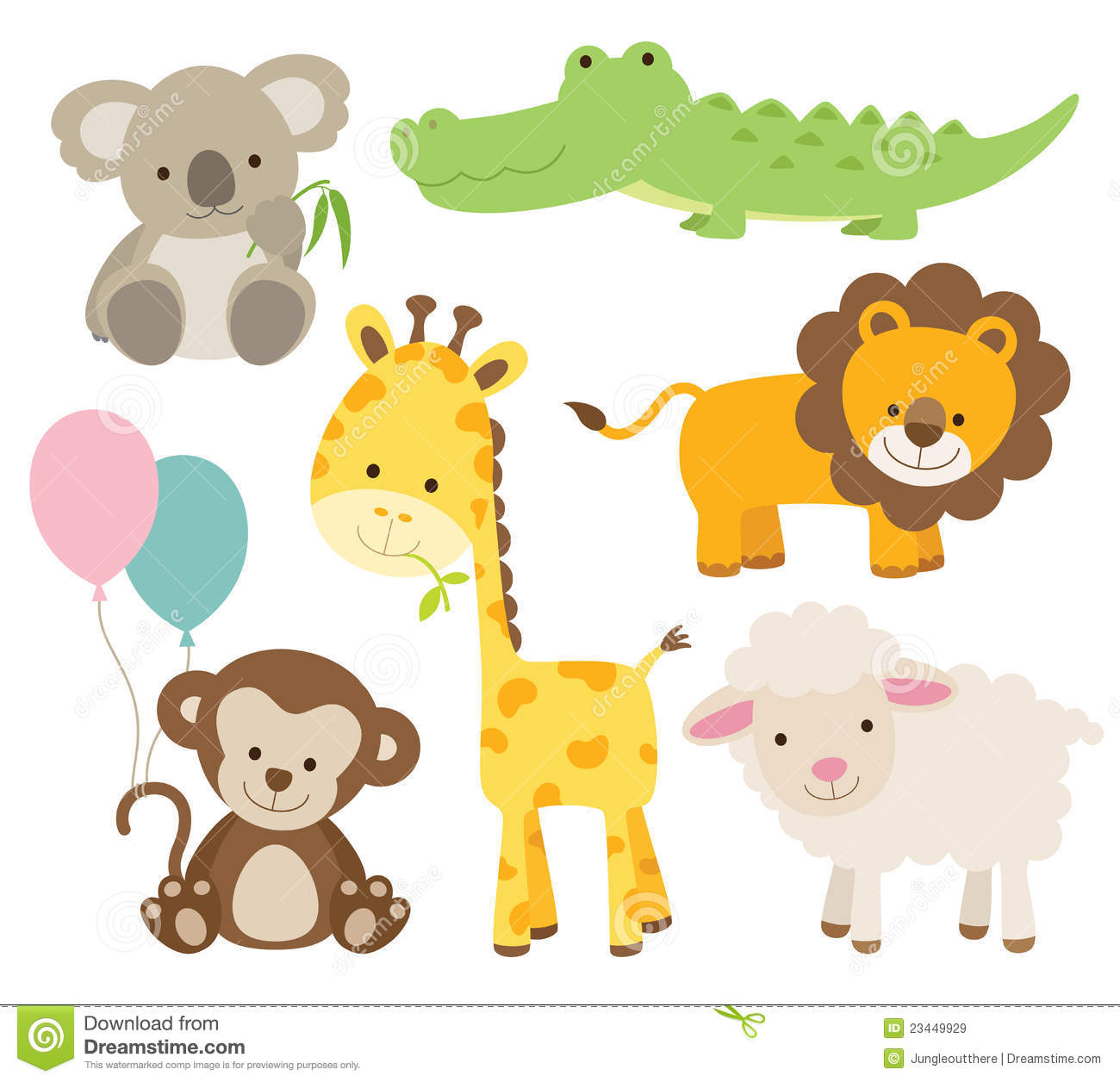 Animal Set Stock Vector Illustration Of Jungle Wildlife
