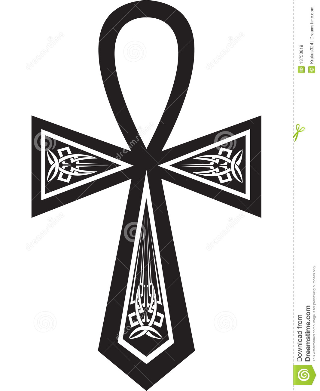 Ankh Cross Royalty Free Stock Images