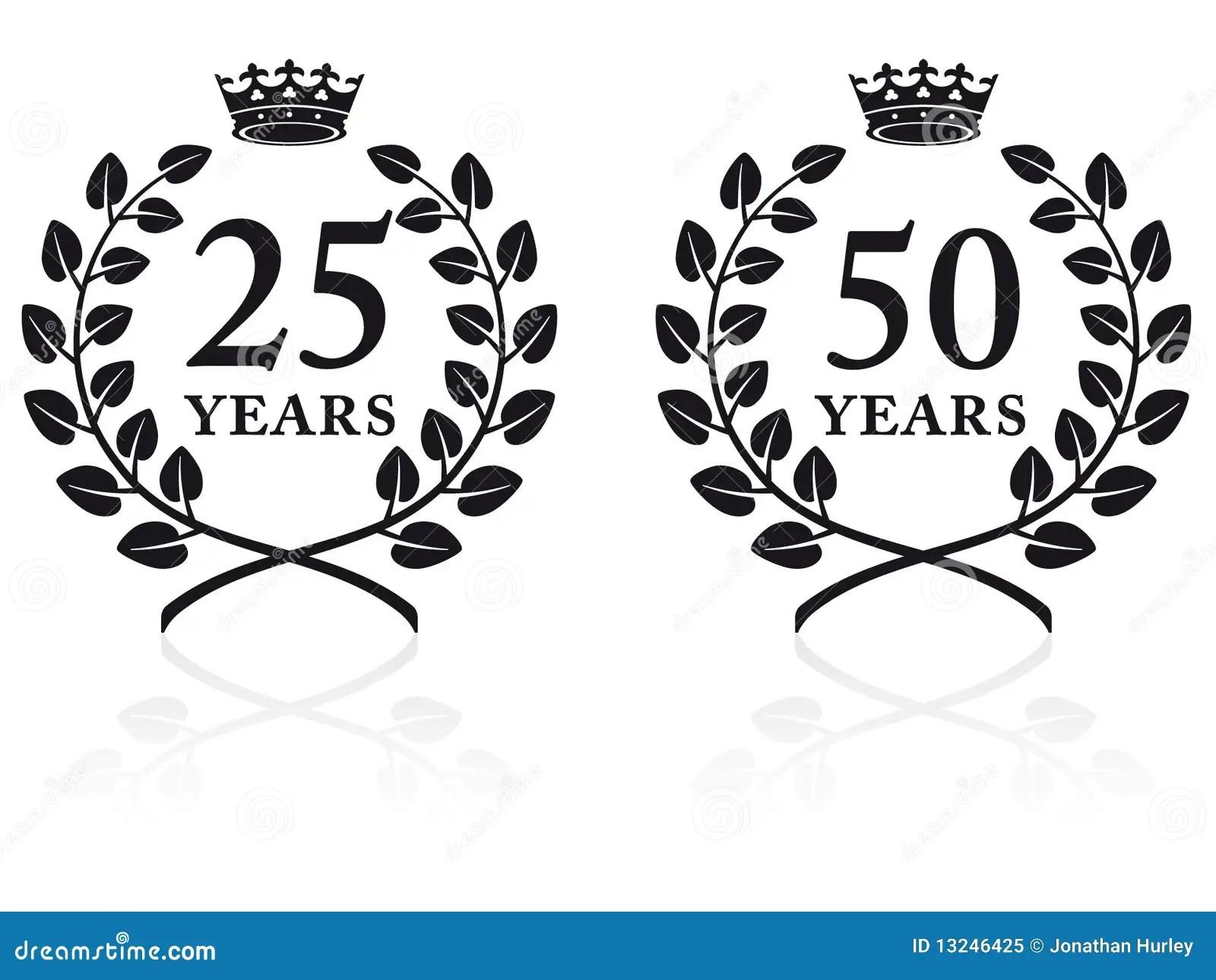 Anniversary Seals 2 Royalty Free Stock Photo
