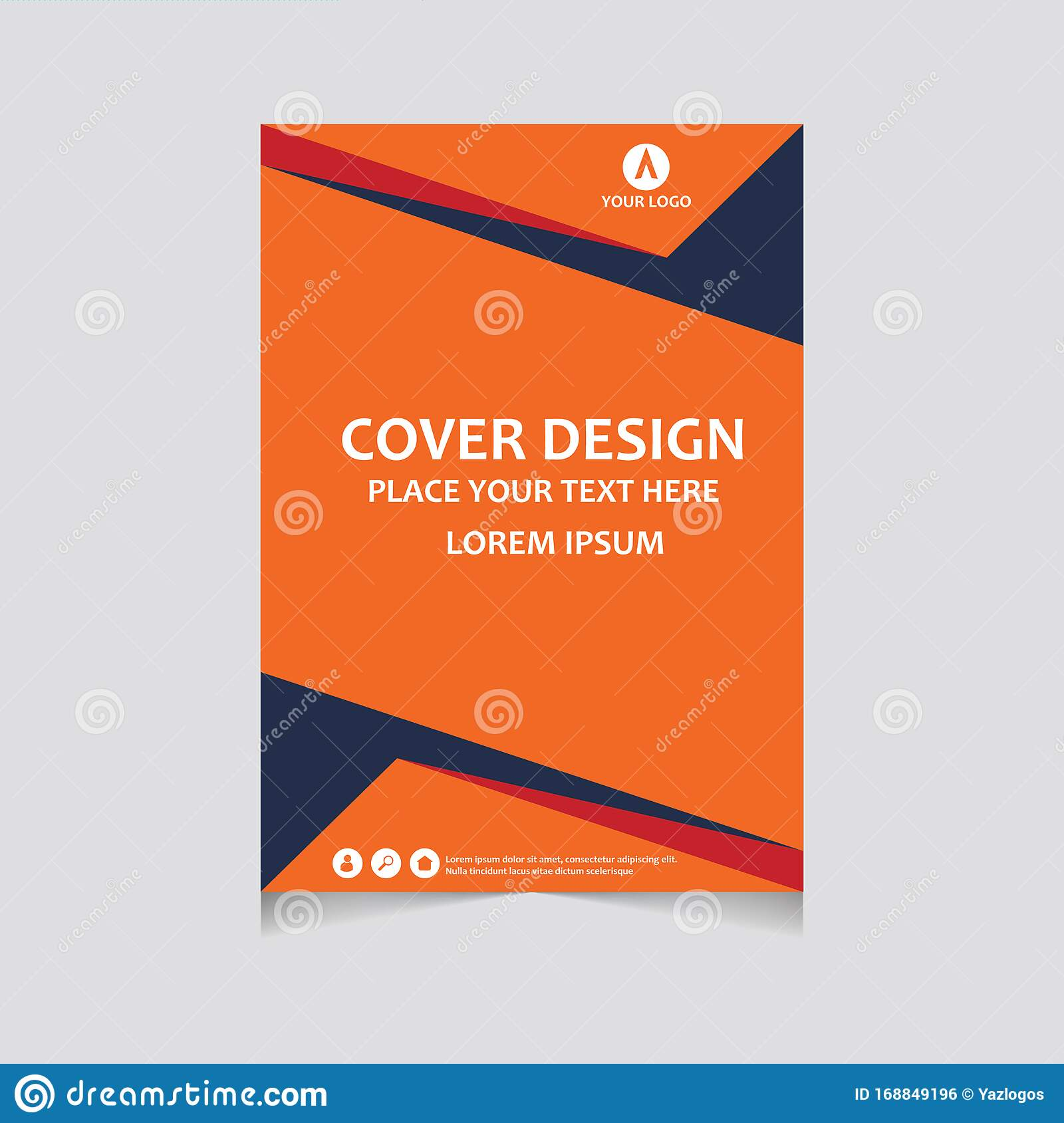 Annual Report Pamphlet Presentation Brochure Front Page Book Cover Layout Design Cover Design Template Abstract Cover Stock Vector Illustration Of Page Front 168849196