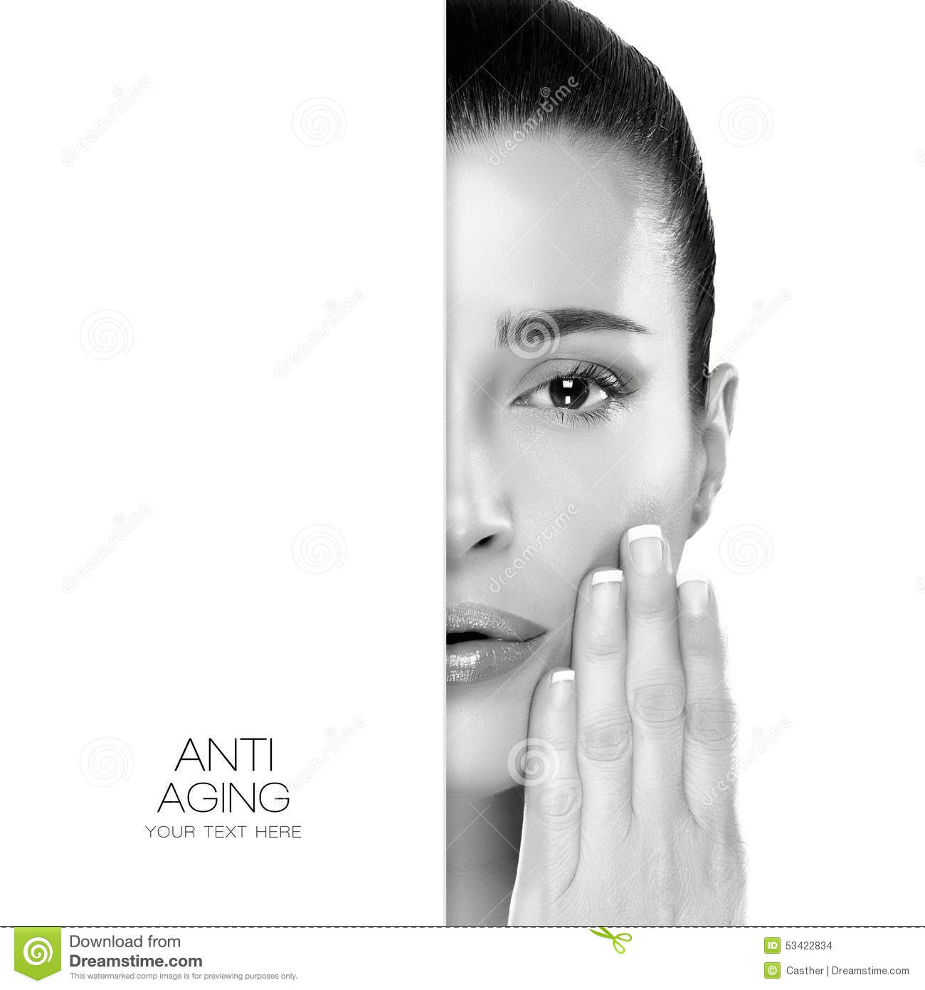 Anti Aging And Skincare Concept Stock Photo