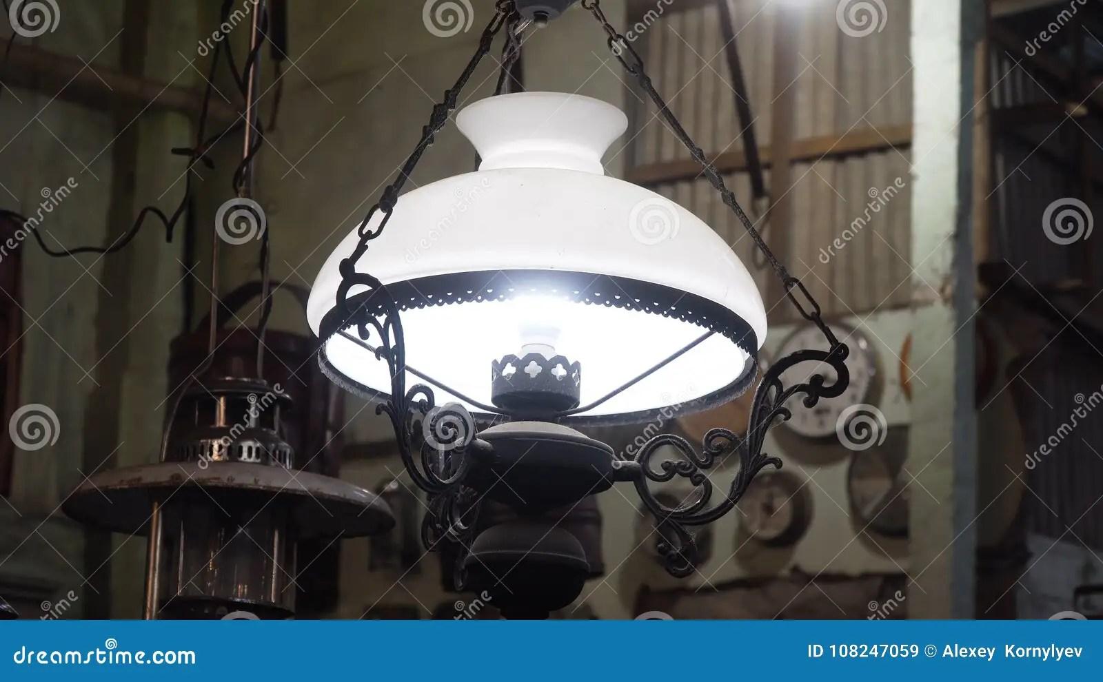 https www dreamstime com antique lamp shade old vintage store image108247059