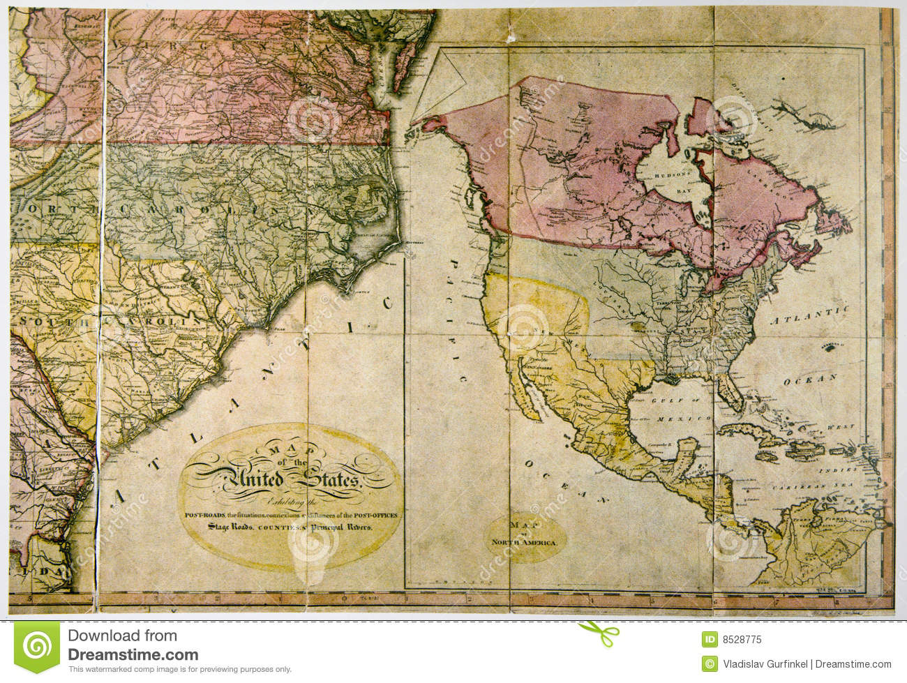 Antique Map Of United States C  1800 Stock Image   Image of     Download Antique Map Of United States C  1800 Stock Image   Image of  geography
