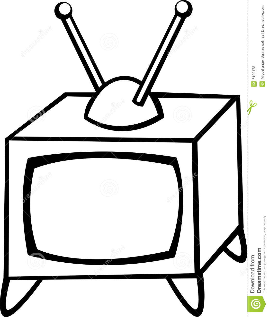 Antique Television Vector Illustration Stock Vector