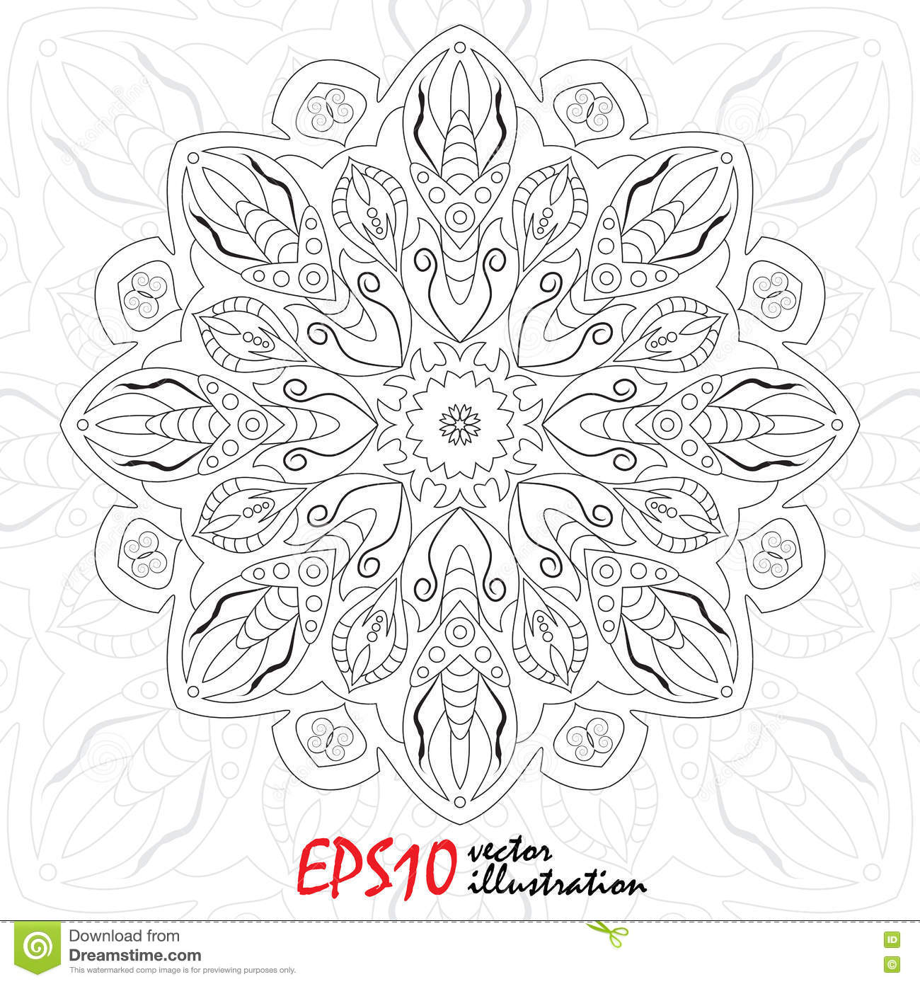 Antistress Snowflake Template For Cover Poster T Shirt