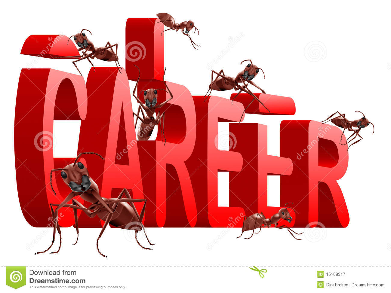 Ants Building Career Jobs Planning Job Search Royalty Free